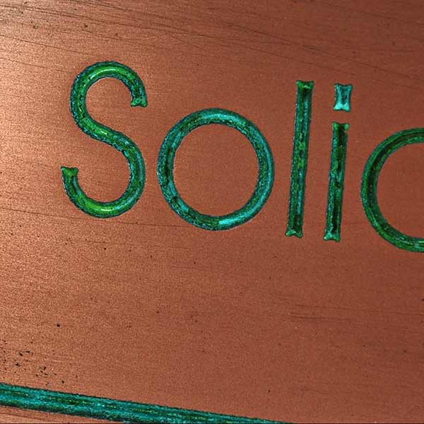 Modern Advantage No Solicitation Sign - Copper Verdi Detail