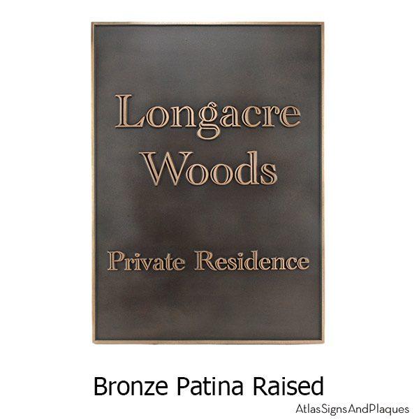 Hesperis Estate Address Sign - Bronze