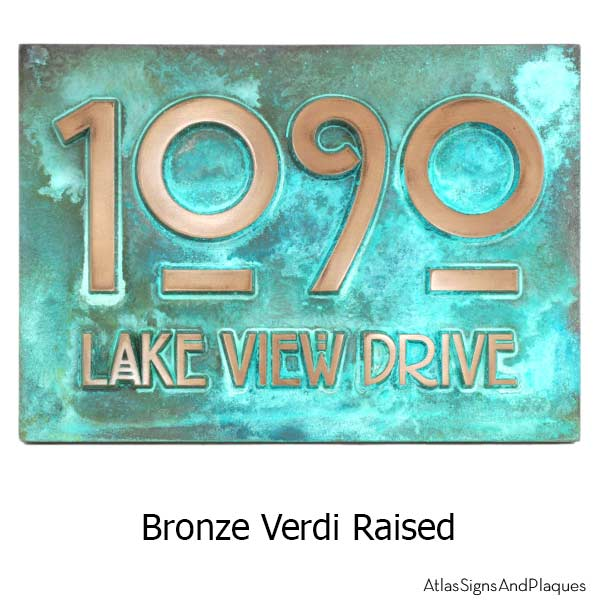 Stickley Address Plaque - Bronze Verdi