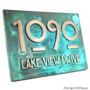 Stickley Address Plaque - Bronze Verdi