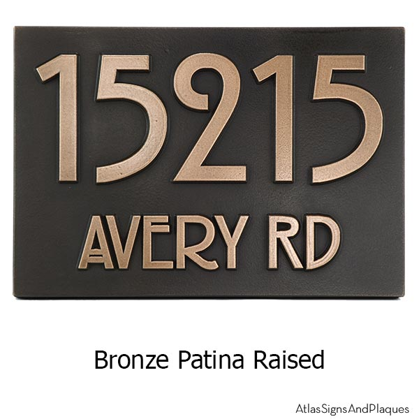 Stickley Address Plaque - Bronze