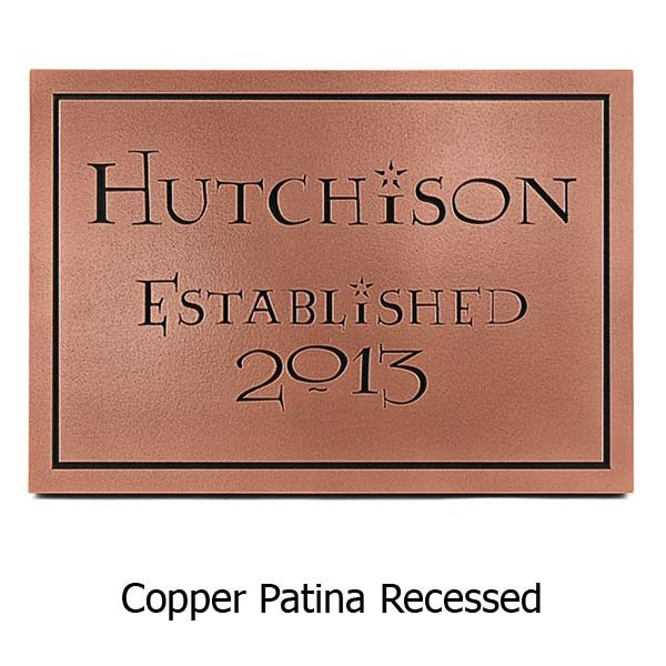 Modern Wedding Plaque Lumos - Copper