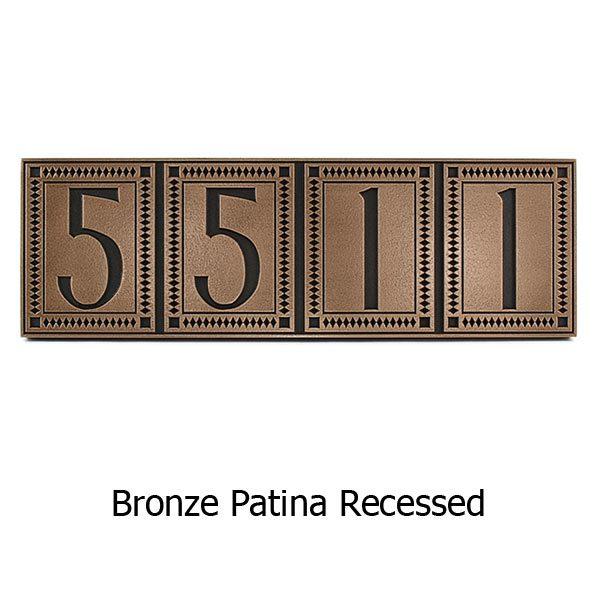 Moirae Tile Address Plaque - Bronze