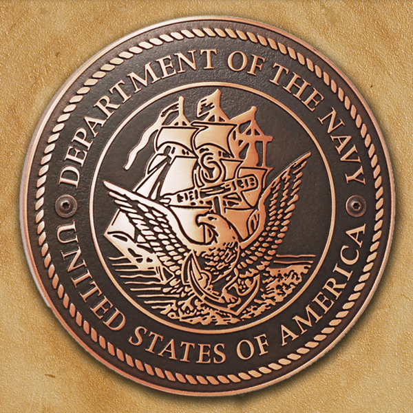 US Navy Plaque - Copper