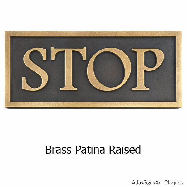Custom Community Sign - Brass