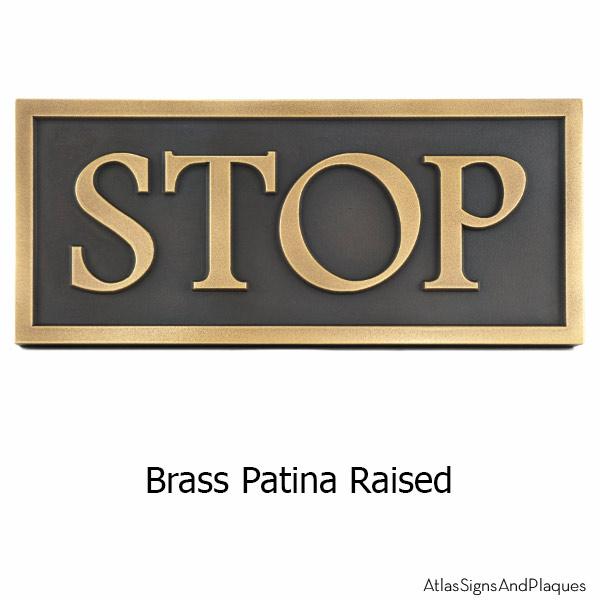 Custom Community Sign - Brass