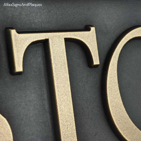 Custom Community Sign - Brass Detail