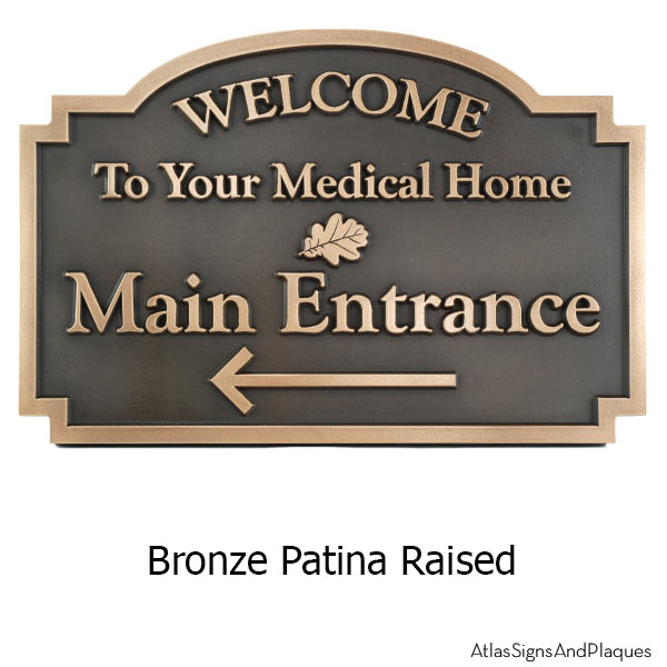 Commercial Welcome Sign - Bronze