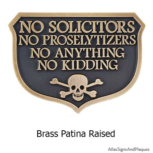 No Kidding Solicitors - Brass