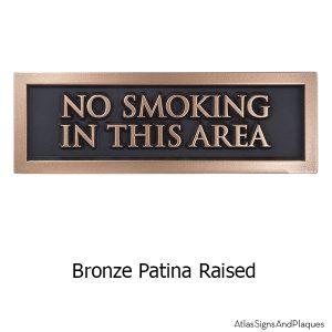 No Smoking Sign - Bronze