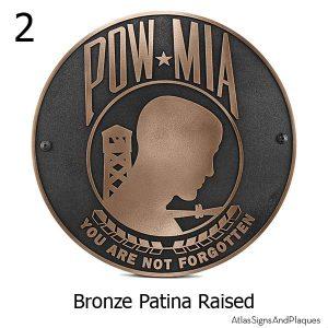 POW MIA Plaque - Not Forgotten - Bronze