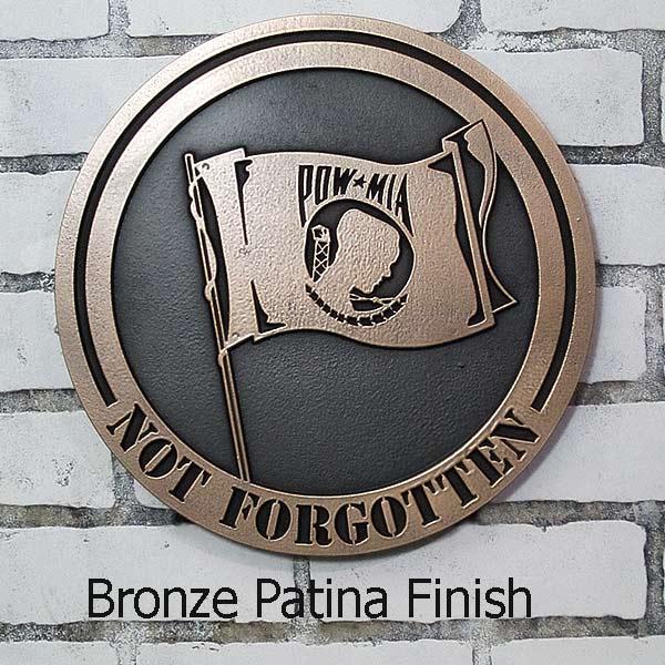 POW MIA Not Forgotten Plaque - Bronze