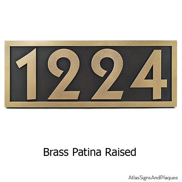 Pleione Address Plaque - Brass