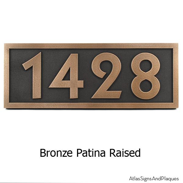 Pleione Address Plaque - Bronze