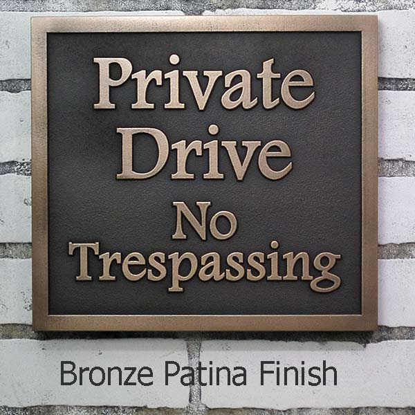 Private Drive Plaque Atlas Signs Amp Plaques Handcrafted