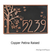 Rectangle Blossom Tree Plaque - Copper
