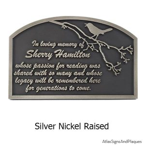 Songbird Remembrance Plaque - Silver Nickel