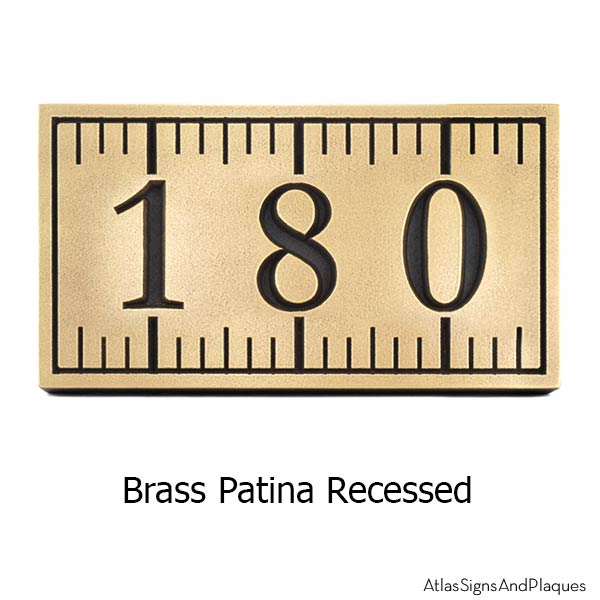 Ruler Address Plaque - Brass