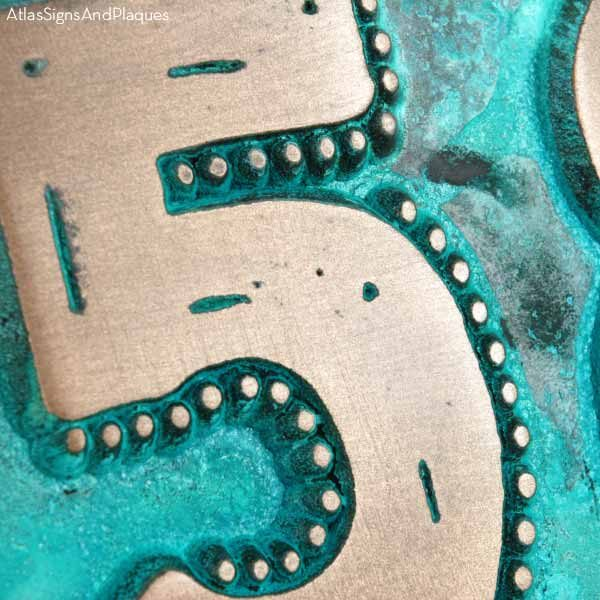 Rustic Modern Address - Bronze Verdi Detail