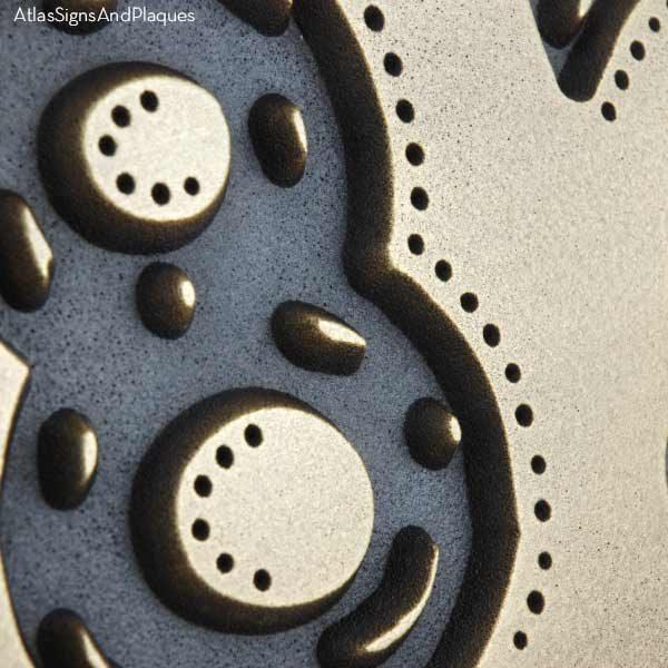 Rustic Modern Address - Brass Detail