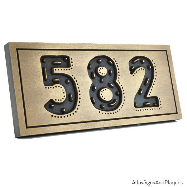 Rustic Modern Address - Brass