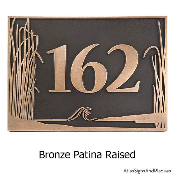 Sea Shore Address Plaque - Bronze