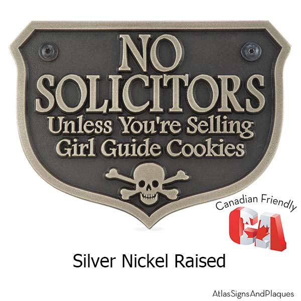 Girl Guide No Soliciting Sign Atlas Signs And Plaques
