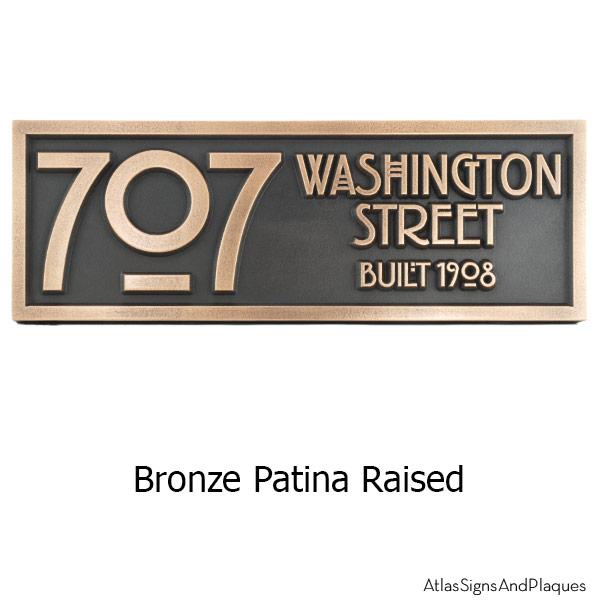 Stickley 2 Digit Address - Bronze