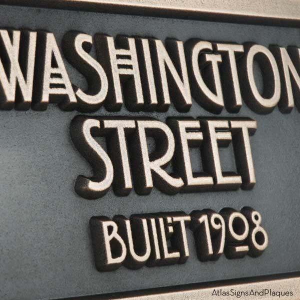 Stickley 2 Digit Address - Bronze Detail