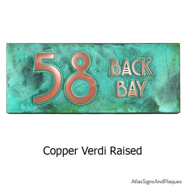 Stickley 2 Digit Address - Copper Verdi