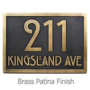 Stickley Address Plaque - Brass