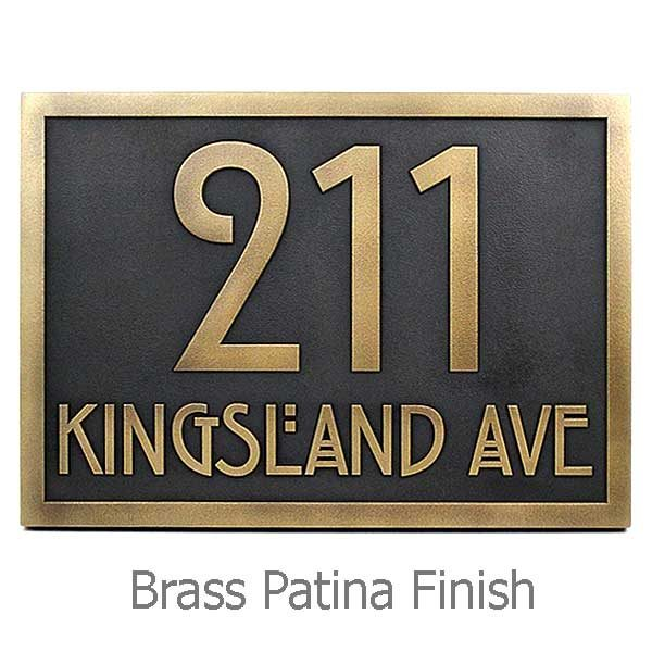 Stickley Address Plaque - Brass