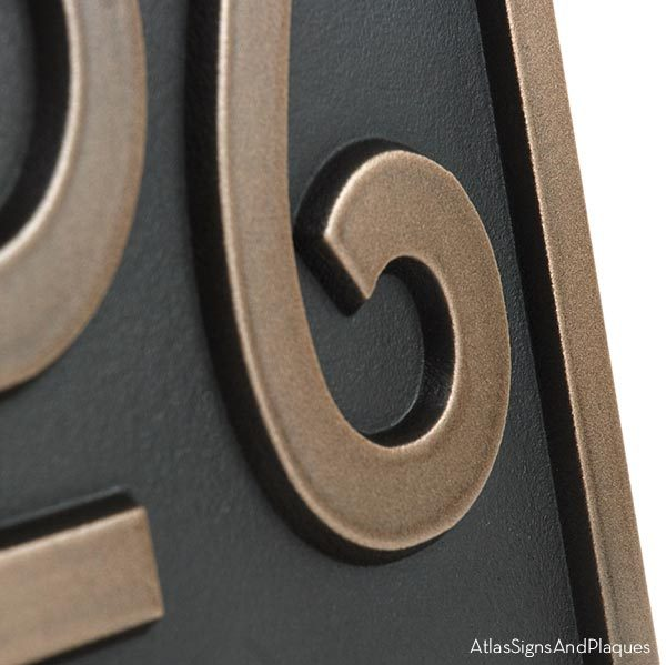 Stickley Address Plaque - Bronze Detail