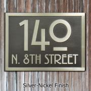 Stickley Address Plaque - Silver Nickel