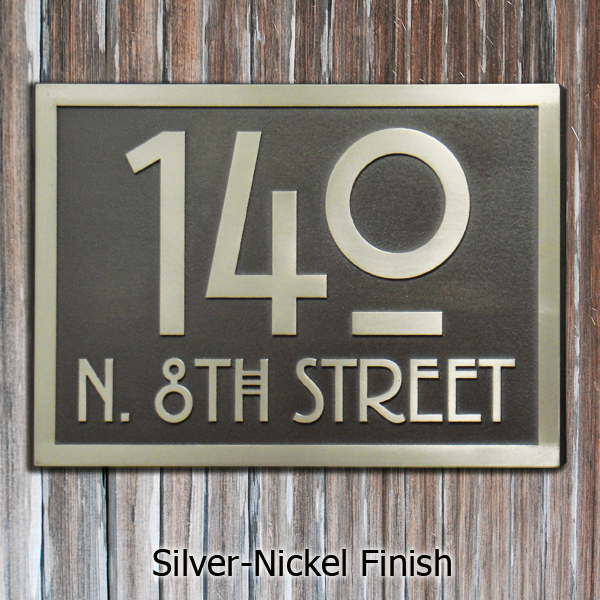 Stickley Address Plaque - Silver Nickel
