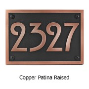 Stickley Address Plaque - Copper Shown with Optional T30 Screws