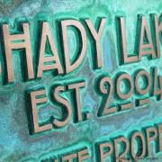 Stickley Phrase Plaque - Bronze Verdi Detail