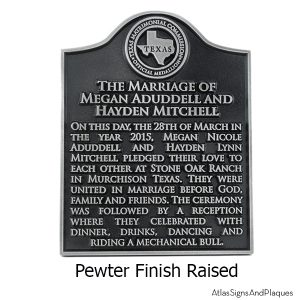 Your Historical Marker - Pewter