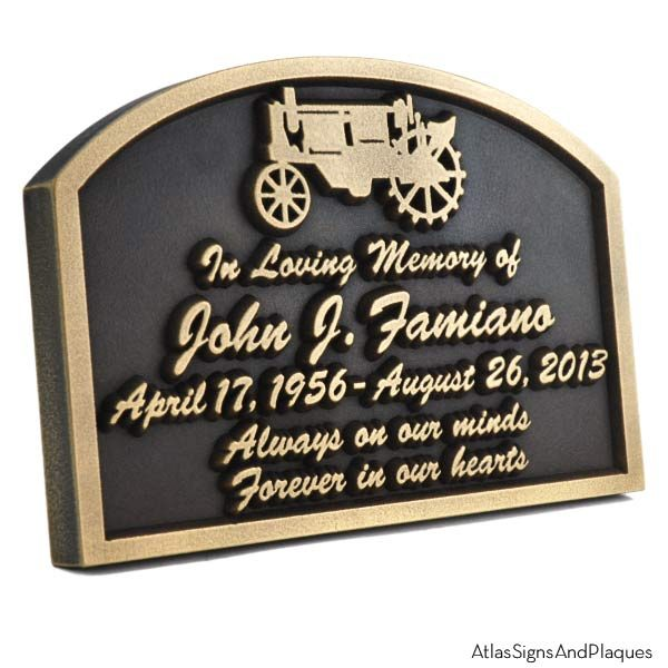 Tractor Memorial Plaque - Brass