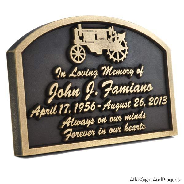 Tractor Memorial Plaque - Brass