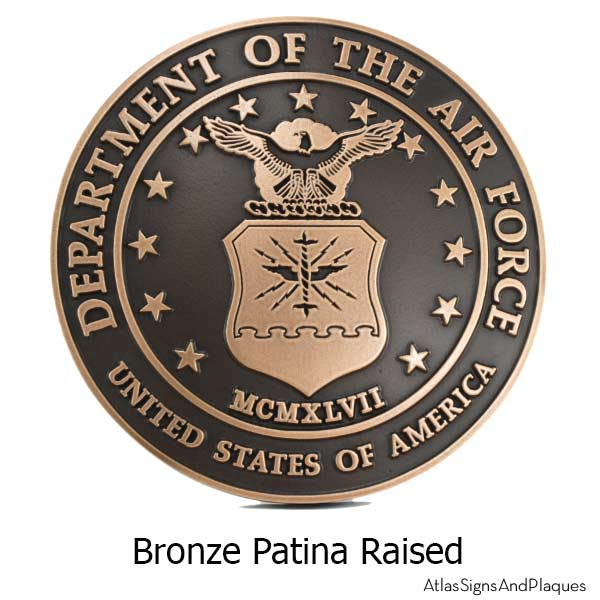 US Air Force Plaque - Bronze