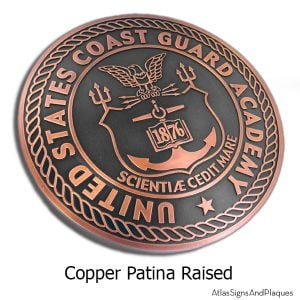 US Coast Guard Academy Plaque - Copper