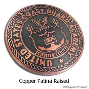 US Coast Guard Academy Plaque - Copper