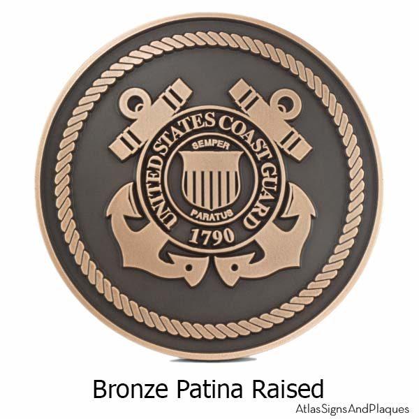 US Coast Guard Plaque - Bronze