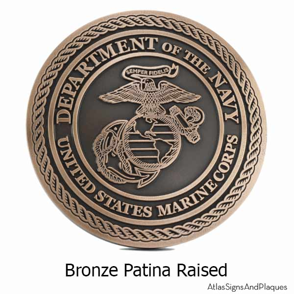 US Marine Corps Plaque - Bronze