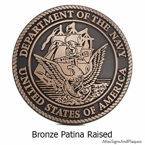 US Navy Plaque - Bronze