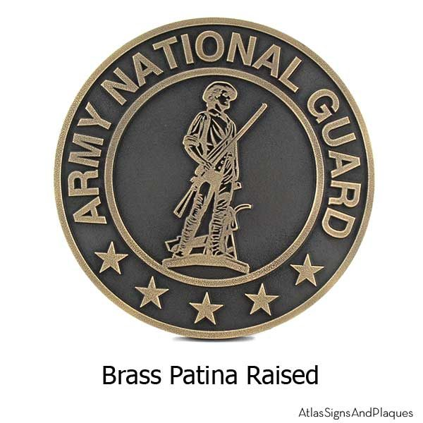 Army National Guard Plaque - Brass