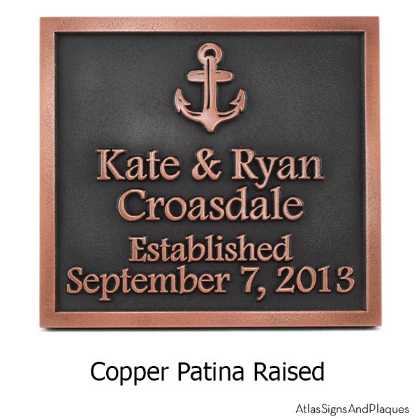 anchors away wedding plaque atlas signs and plaques