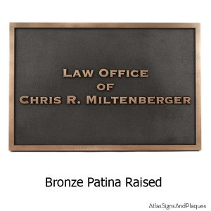 Attorney At Law Sign - Bronze
