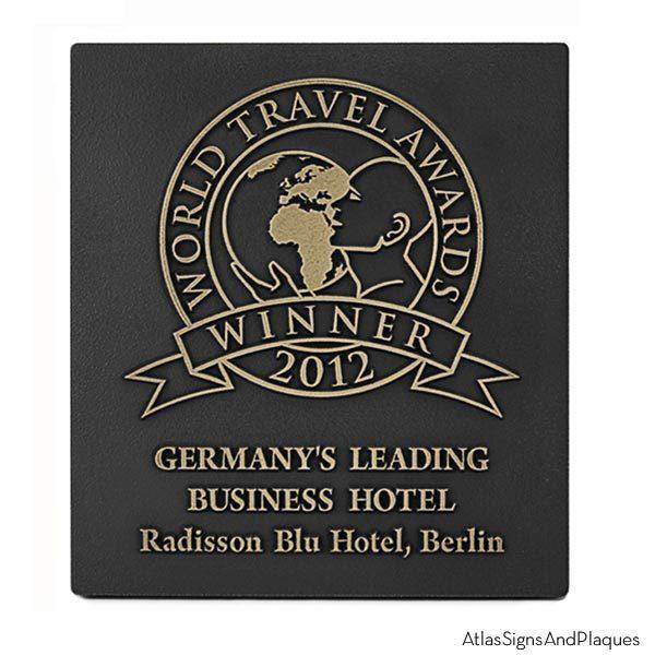 Award Plaque - Brass Raised